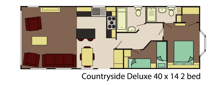 Delta ccountryside deluxe 40x13 2 bed layout
