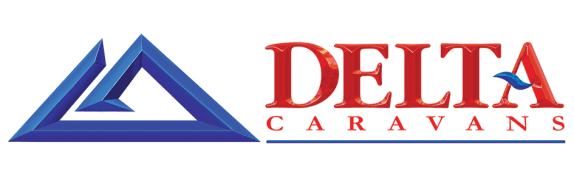 The Delta logo starts with a destinctive triangular blue shape which rather looks like the letter D on its back. To the right, the words Delta are in red with the horizontal bar of the letter A in blue in a swirl of contrast.